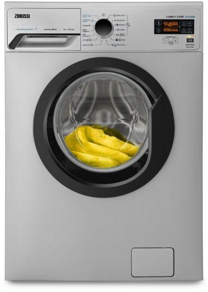 Zanussi ZWF7241SBV Front Load V-steam Inverter Automatic Washing Machine, 7 kg - Silver