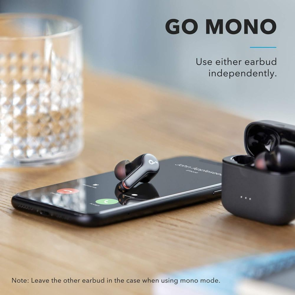 Anker SoundCore Liberty Air 2 Bluetooth Earphones Waterproof 4 Microphones With Uplink Noise Cancellation Wireless Charging-Black