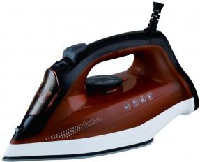 Home 2000 Watt Steam Iron JS-7100, Dark Red Black