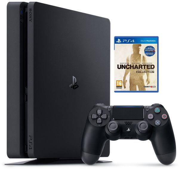 SONY Playstation 4 slim- 500GB with 1 Game Uncharted the Nathan Drake Collection