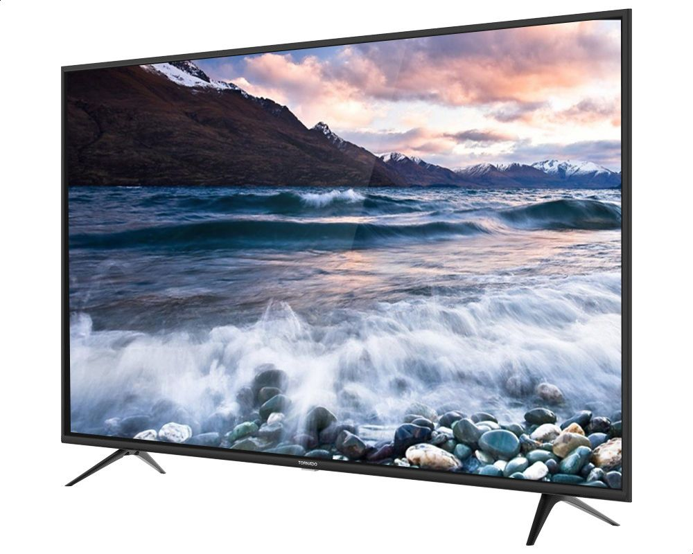 Tornado 65 Inch 4K Ultra HD LED Smart TV with Built-in Receiver, Black - 65US9500E