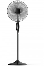 TORNADO Stand Fan 16 Inch With 4 Plastic Blades and 3 Speeds In Black Color TSF-16W