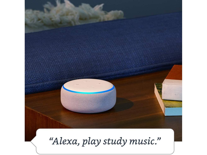 Amazon Echo Dot (3rd Gen) Smart speaker with Alexa - Sandstone Fabric