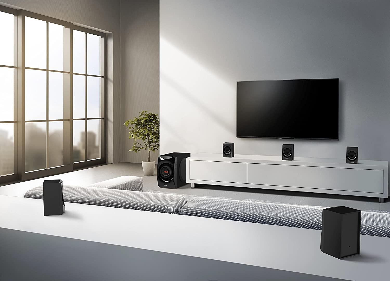 Philips SPA8000B/94 5.1 Channel Multimedia Speakers System (Black)