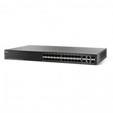 Cisco 24 gigabit SFP ports & 2 Combo RJ45/SFP Ports / SG350-28SFP