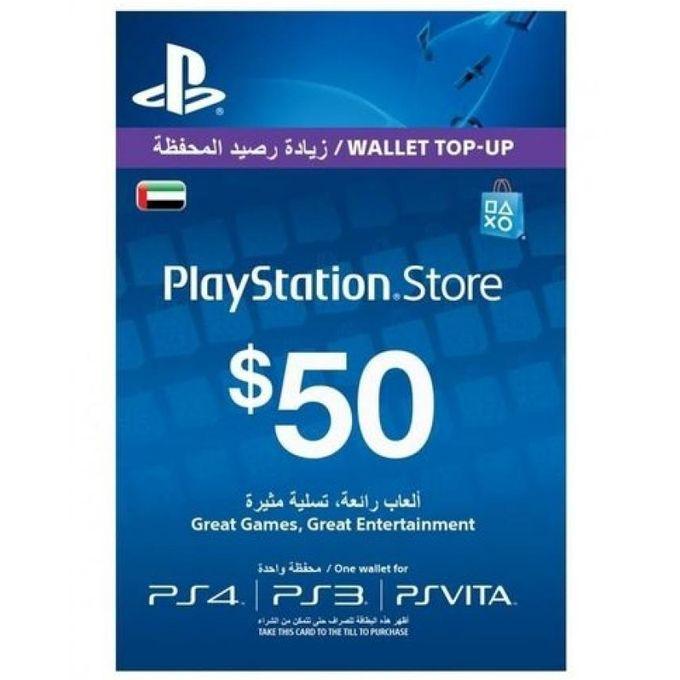 Playstation Network 50 Dollar Card - UAE Only