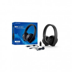 New Gold Wireless Stereo Headset For PlayStation - Jet Black