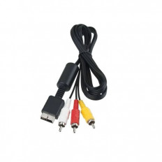 Playstation 1/2/3 RCA Audio/Video Cable - 1.2M - Black