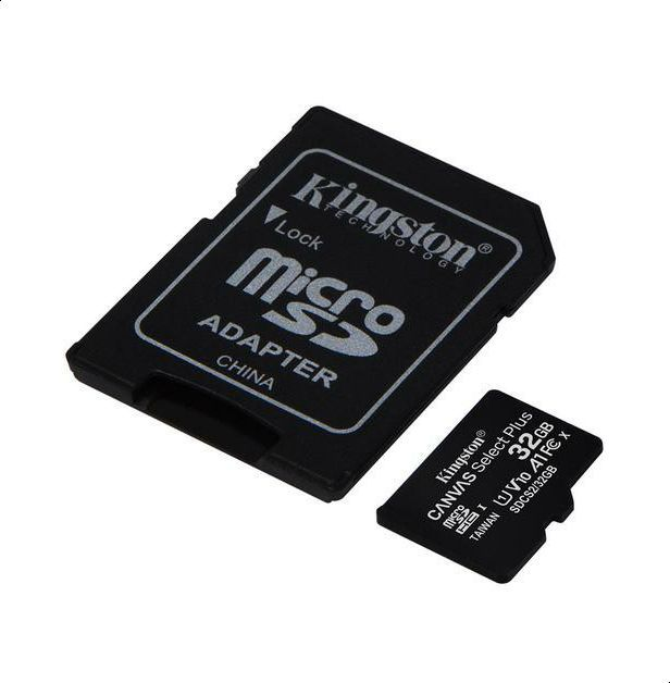 Kingston SDCS2/32GB Class 10 CANVAS Select Plus Micro SD Card with Adapter, 32 GB