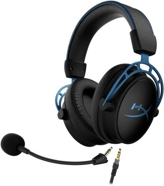 HyperX - Cloud Alpha S Wired 7.1 Surround Sound Gaming Headset for PC with Chat Mixer and Adjustable Bass