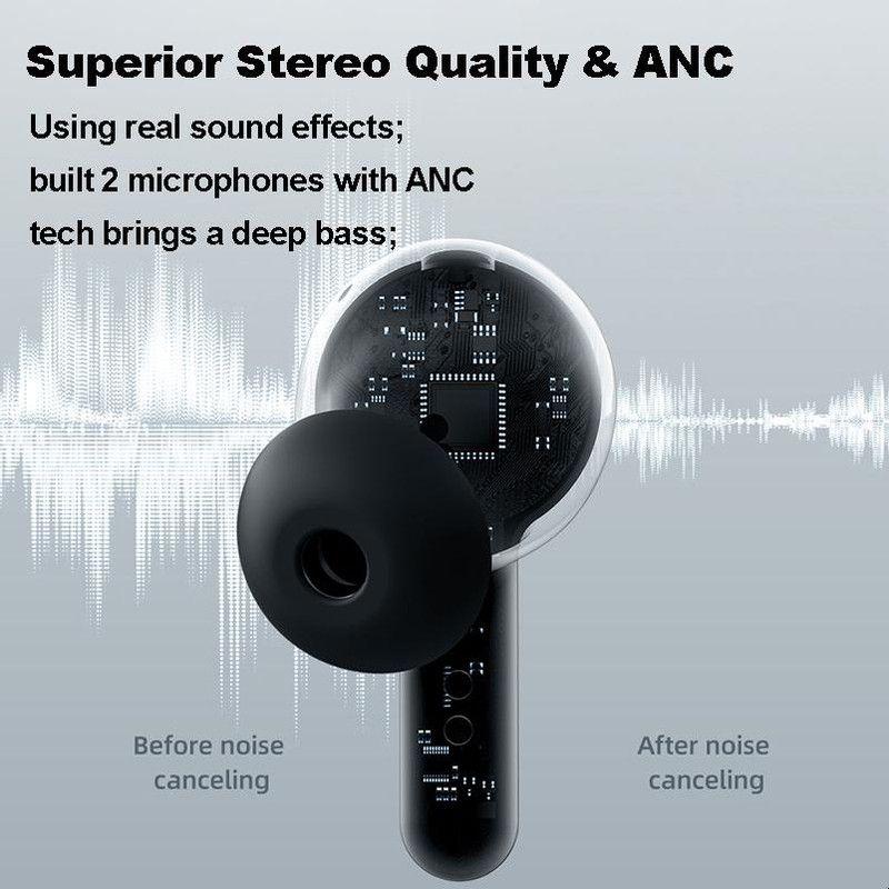 Joyroom JR-TA1 TWS Waterproof Wireless Bluetooth Earphones, Noise Reduction - Black