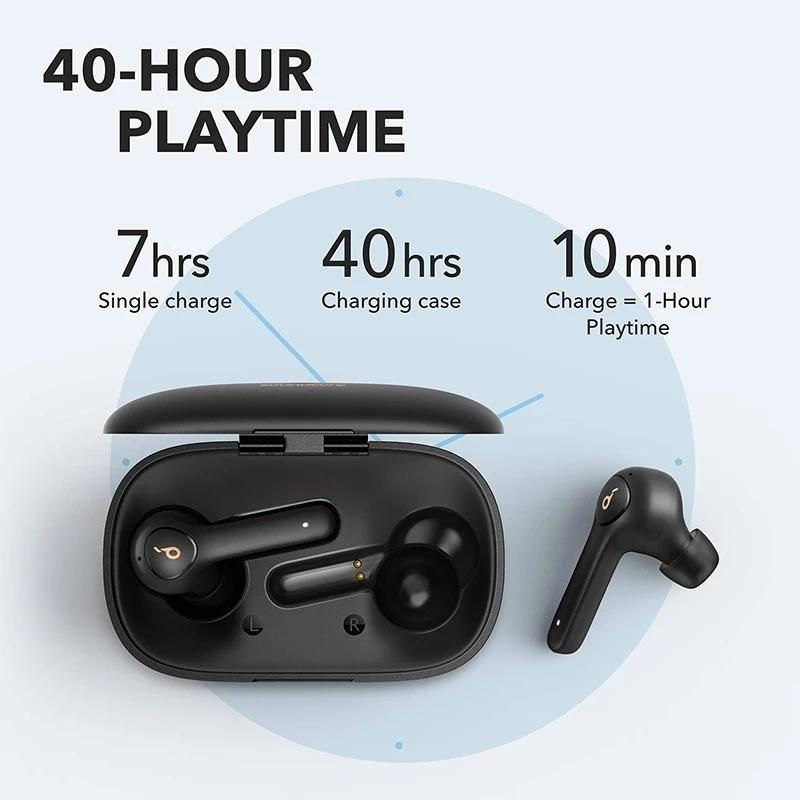 Anker Soundcore Life P2 TWS True Wireless Earphones with 4 Microphones, CVC 8.0 Noise Reduction, 40H Playtime, IPX7 Waterproof