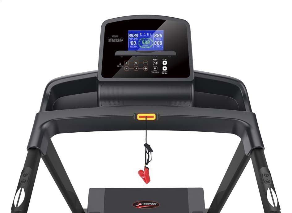 Entercise CX-1 New Treadmill with LCD Display - Black