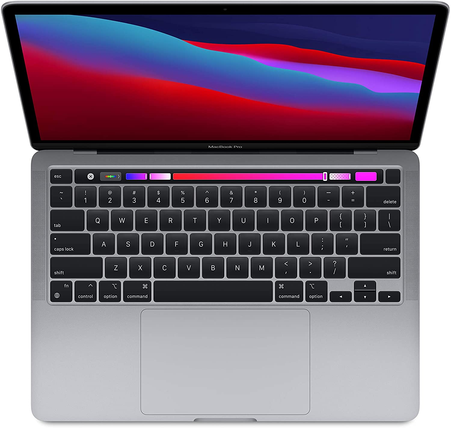 Apple MacBook Pro with Apple M1 Chip, 8 Core CPU , 8C GPU - With Touch Bar (13-inch, 8GB RAM, 256GB SSD Storage - Space Gray  (English Keyboard )