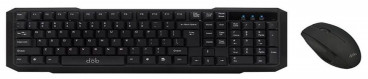 Porsh Dob Wired Keyboard and Mouse, Black - KM 280