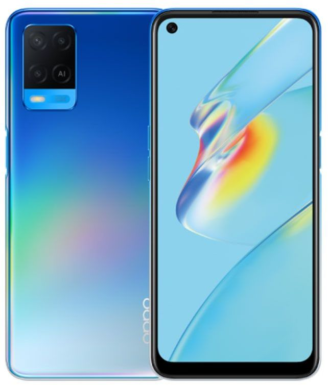Oppo A54 Dual SIM Mobile Phone - 6.51 Inch, 128 GB, 4 GB RAM, 4G LTE - Starry Blue
