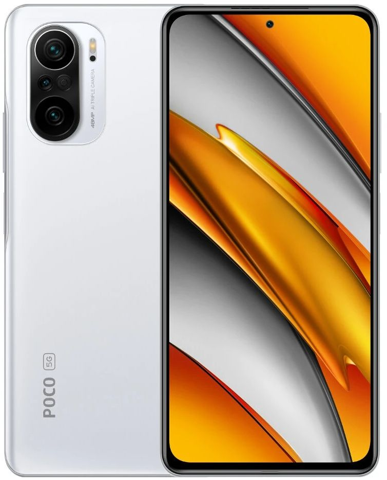 Xiaomi POCO F3 Dual SIM Mobile - 6.67 Inches, 256 GB, 8 GB RAM, 4G LTE - Arctic White