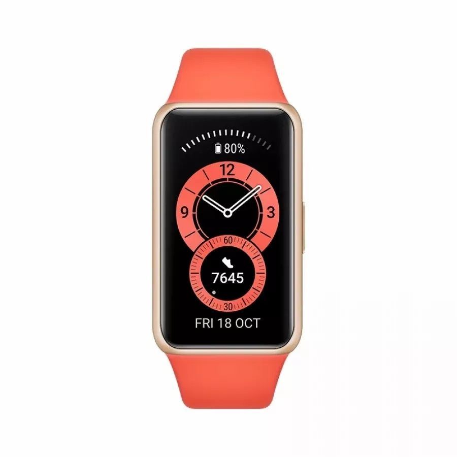 Huawei Band 6 - 1.47 inches AMOLED Display Touchscreen Fitness Tracker, Amber Sunrise - Local Warranty