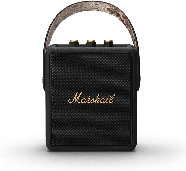 Marshall Stockwell II Portable Bluetooth Speaker - Black and Brass