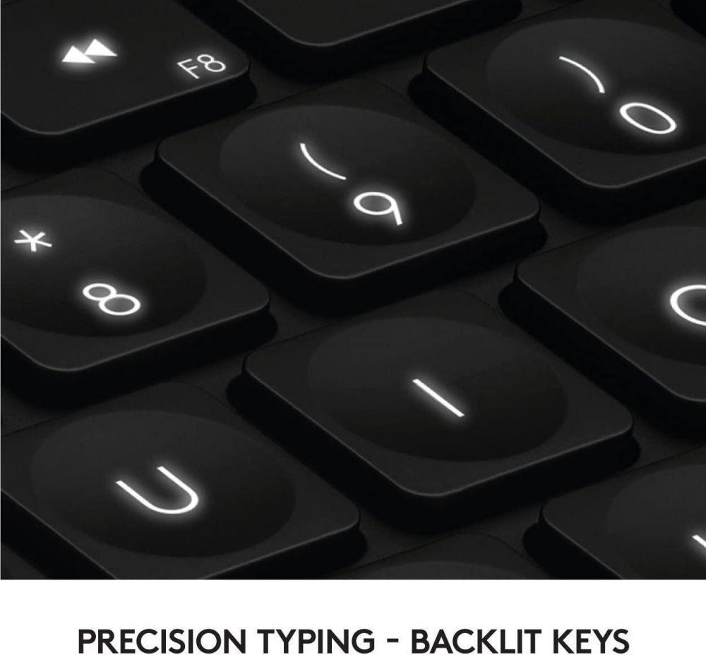 Logitech Craft Advanced Wireless Keyboard for Precision, Creativity and Productivity - Backlit Keys [ Dark Gray - Aluminum ]