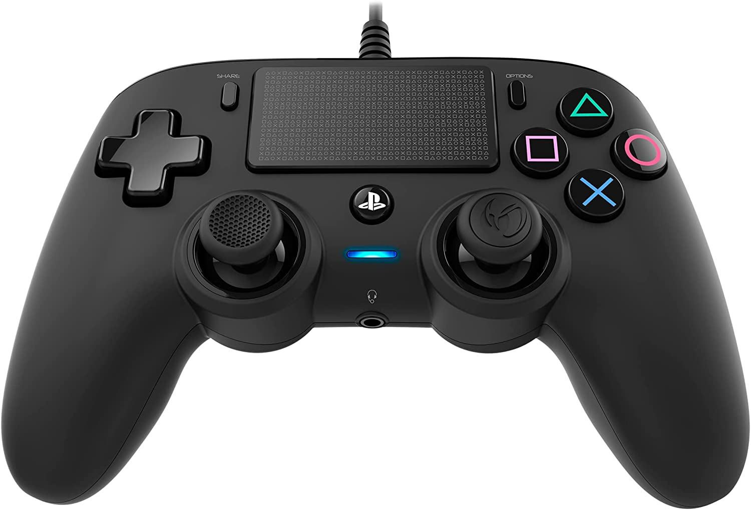 Nacon Wired Compact Controller For Playstation® 4 - Black