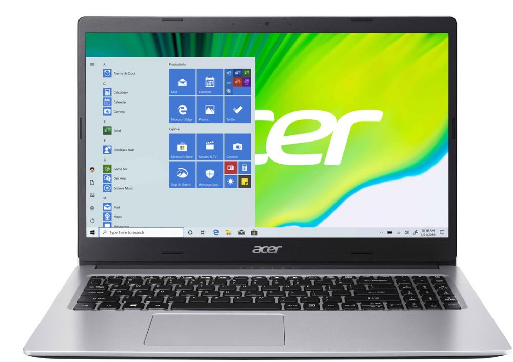 Acer Aspire 3 A315 Notebook - AMD Ryzen 3-3250U, Dual Core 2.60GHz Upto 3.50GHz, 4GB DDR4 RAM, 1TB HDD Storage, AMD Radeon Graphics, 15.6 Inches HD ComfyView Display, Win 10 Home - Pure Silver