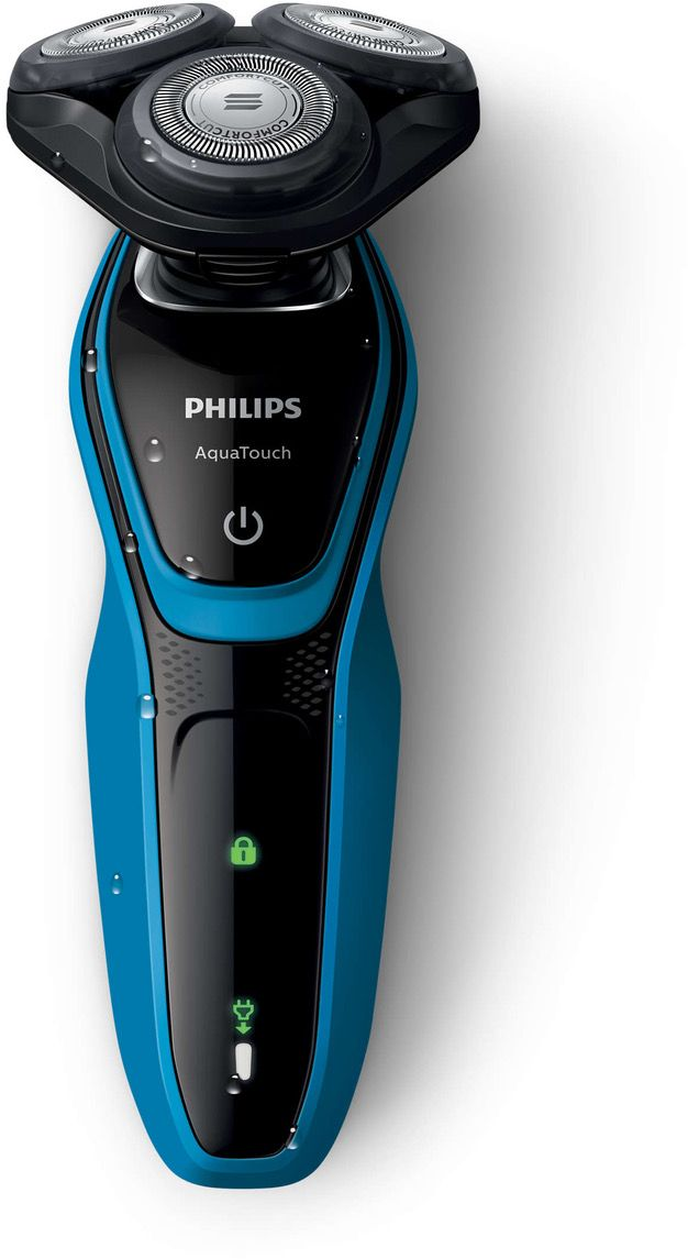 Philips AquaTouch Wet and dry electric shaver ComfortCut Blade System, 30 min cordless use/8 h charge, SmartClick precision trimmer  S5050/06