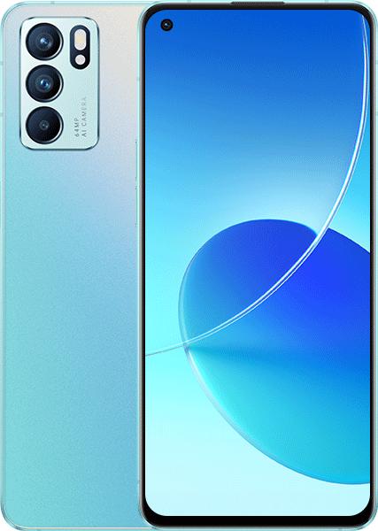 Oppo Reno 6 Dual Sim, 128GB, 8GB RAM, 5G - Aurora