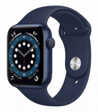 Apple Series 6 Silicone Watch with GPS and Blood Oxygen Sensor, 44 mm - Navy - M00J3LL/A