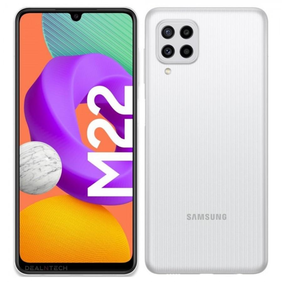 Samsung Galaxy M22 Dual SIM Mobile - 6.4 inches, 6 GB RAM, 128 GB - White